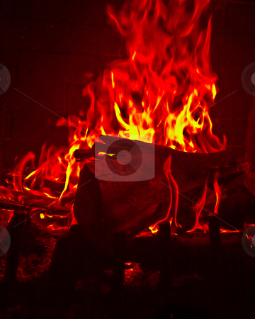 Flames Fire of Hell  stock photo, Flames Fire of Hell against a black background. by Mark Payne