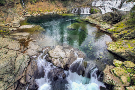 Dougan Falls in Washington stock photo, Dougan Falls in Washington Scenic Columbia Gorge by Thye Gn