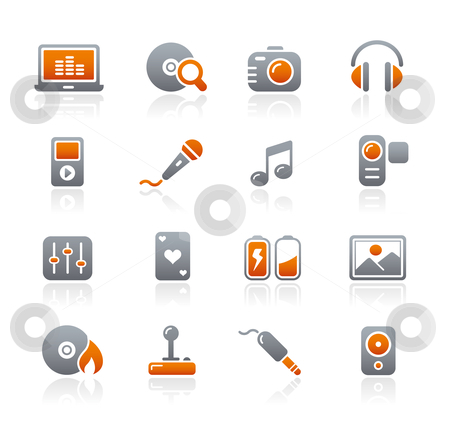 Media  stock vector clipart, Professional icons for your website or presentation. -eps8 file format- by Diego Alies