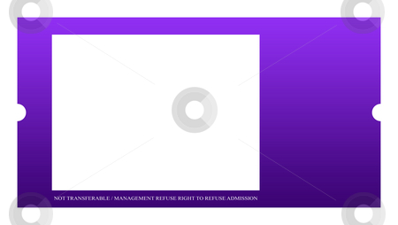 Blank Event ticket stock photo, Blank event ticket isolated on white background. by Martin Crowdy