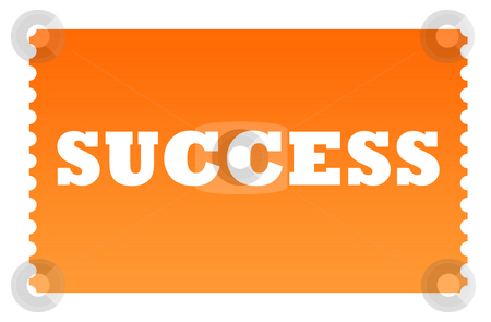 Ticket to success stock photo, Ticket to success solated on white background. by Martin Crowdy