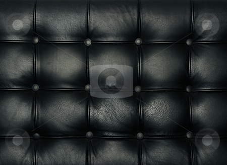 High quality studded leather texture stock photo, Luxury buttoned leather pattern by Jon Helgason
