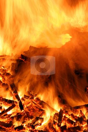 Fire stock photo, Close-up of a bonfire by Jon Helgason