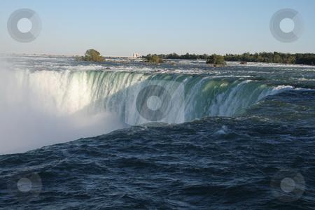 Niagara Falls Shadow stock photo, A shot of Niagara falls from right at the edge. by Chris Hill