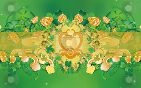 Saint Patrick's Day - Celtic Harp stock photo,  by Giuseppe Scrofani