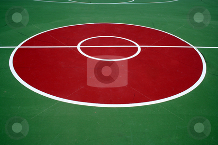 Basketball Court stock photo, An image of a Basketball court by Jim Mills