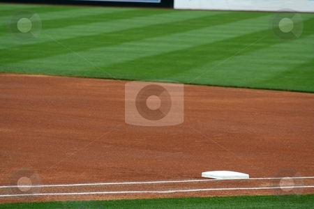 First Base stock photo, An image of first base by Jim Mills