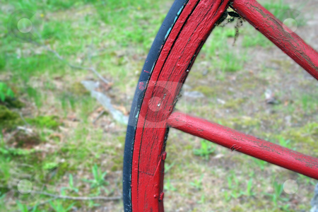 Red Wagon Wheel stock photo, An iamge of a Red Wagon Wheel by Jim Mills