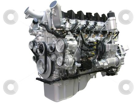 Heavy truck engine stock photo, Heavy truck engine isolated by Goce Risteski
