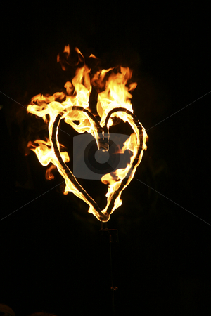 Heart On Fire stock photo, Photo Of A Heart On Fire Concept by Nick Fingerhut