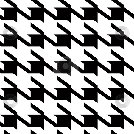 Houndstooth large background stock photo, Black and white large houndstooth seamless vector repeating material pattern by Michael Travers