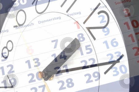 Business time concept stock photo, Business time concept with watch and calendar by Gunnar Pippel
