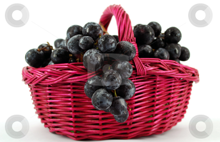Basket with grapes stock photo, Basket with grapes by Goce Risteski