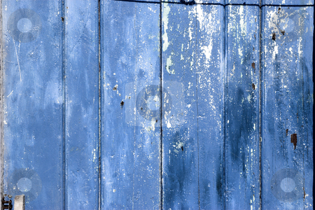 Aged wooden background stock photo, Close up picture of blue wood boards by ikostudio