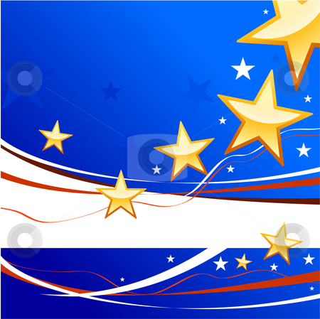 United States of America background stock vector clipart,  by L Belomlinsky