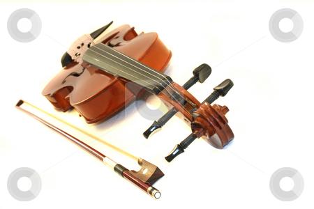 Violin stock photo, Violin on white background by Marén Wischnewski