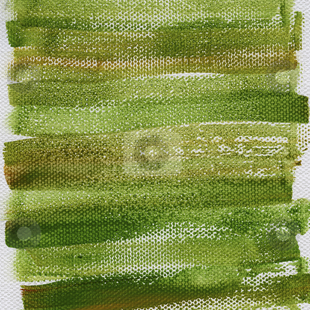 Grunge green painted background stock photo, Green and brown grunge watercolor abstract on artist canvas with a coarse texture, self made by photographer by Marek Uliasz