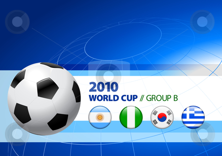 2010 World Cup Group B stock vector clipart, 2010 World Cup Group B Original Vector Illustration by L Belomlinsky