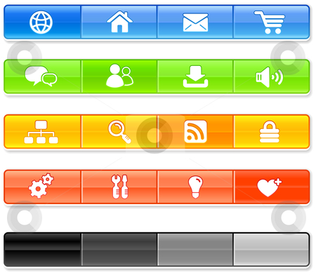 Bar Internet Icons stock vector clipart, Bar Internet Icons Original vector Illustration by L Belomlinsky