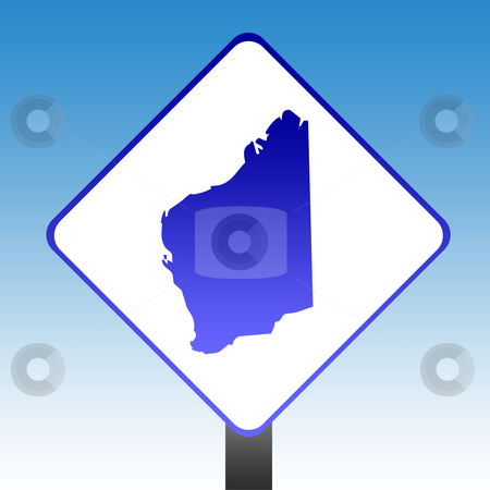 Western Australia Sign stock photo, Australia state of Western Australia road sign with blue sky background. by Martin Crowdy
