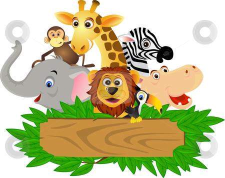 Funny animal cartoon stock vector similar images funny animal cartoon voltagebd Images