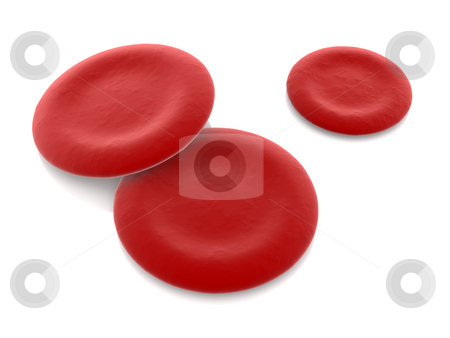 Hemoglobin Cells stock photo, Hemoblogin Cells. 3D rendered Illustration. Isolated on white. by Michael Osterrieder