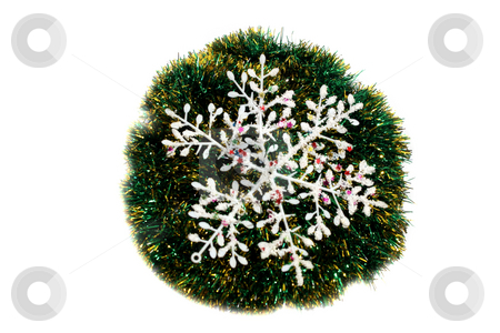Christmas snowflake. stock photo, Isolated object on a white background. by Sergey Skryl