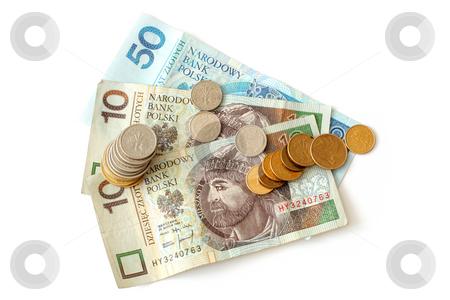 Polish money stock photo, Polish money isolated on white background by Jan Remisiewicz