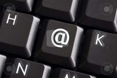 Email button stock photo, Internet or web concept with email or mail button by Gunnar Pippel