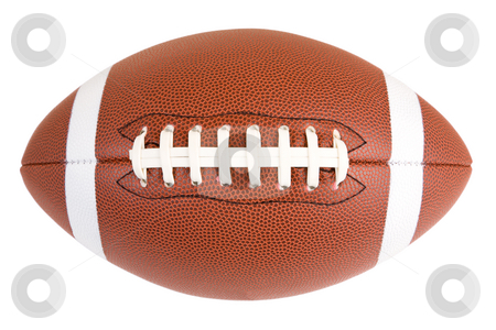American Football stock photo, This is an isolated closeup of an American Football by Denis Pepin