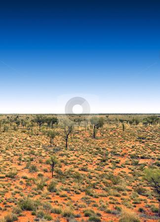 Blue sky stock photo, A photography of the australia outback with a deep blue sky by Markus Gann