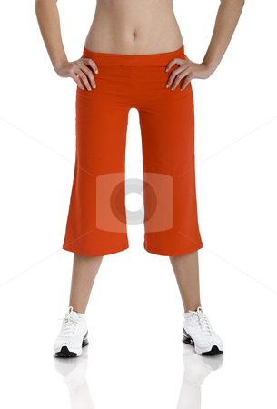 Athletic female body stock photo, Beautiful athletic female body isolated on white by ikostudio
