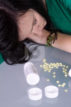 Teen Drug Problem - Overdose stock photo, Teenage Girl Doing Drugs - Overdose Death by Mehmet Dilsiz