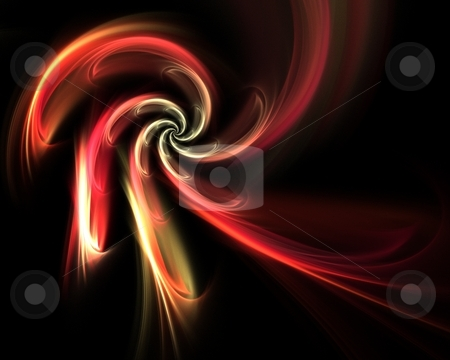 Abstract Vortex Twirl stock photo, A twirling fractal vortex that works great as a background or backdrop. by Todd Arena