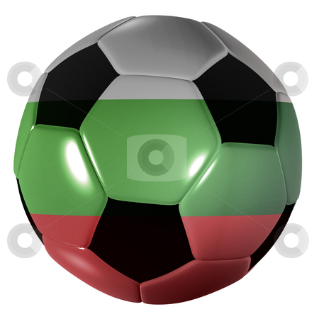 Football bulgaria flag stock photo, Traditional black and white soccer ball or football bulgaria flag by Michael Travers