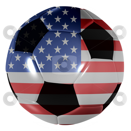 Football USA stock photo, Traditional black and white soccer ball or football USA by Michael Travers