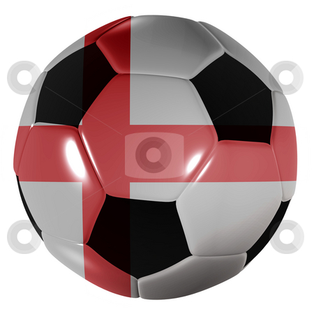 Football england stock photo, Traditional black and white soccer ball or football england by Michael Travers