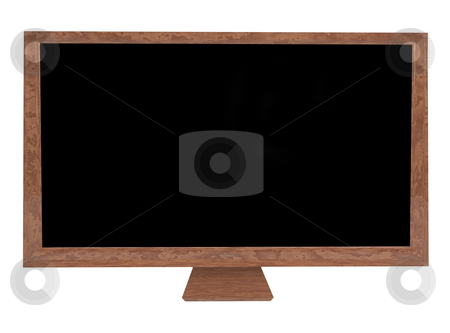 Stone television stock photo, Stone case on a modern flat screen television with room to add your own image by Michael Travers