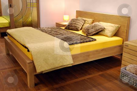 Modern bedroom stock photo, Modern bedroom by Goce Risteski