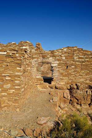 Ruins at Wuputki stock photo, Anazazi ruins at Wupatki National Monument, Arizona by Bonnie Fink