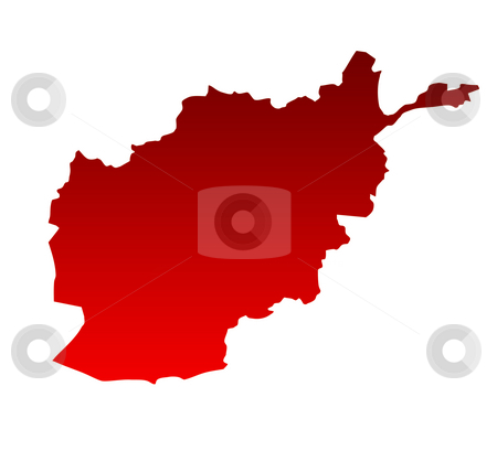 Map of Afghanistan stock photo, Map of Afghanistan isolated on a white background. by Martin Crowdy