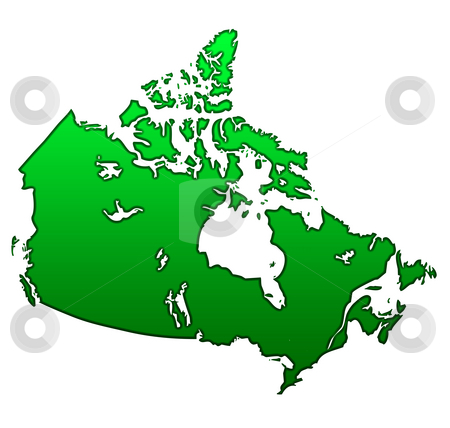 Map of Canada stock photo, Map of Canada isolated on white background. by Martin Crowdy