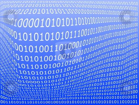 Computer data background stock photo, Binary computer data background with 1 and 0 by Gunnar Pippel