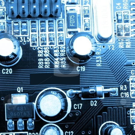Technology stock photo, Technology or computer background with micro chip by Gunnar Pippel