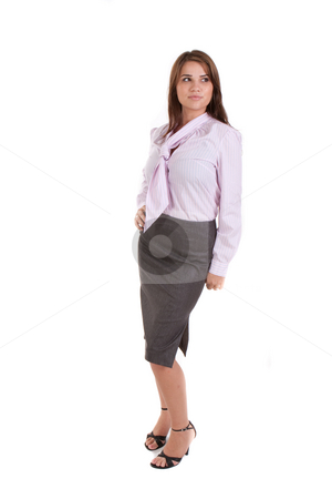 Young Business Woman stock photo, Young business woman. Vertically framed shot. by Angela Hawkey