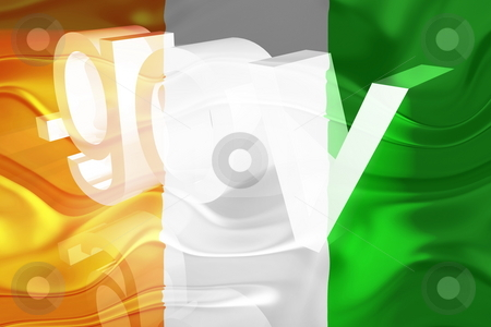 Flag of Ivory Coast wavy government stock photo, Flag of Ivory Coast, national country symbol illustration wavy gov government website by Kheng Guan Toh