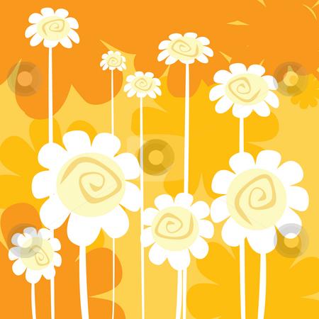 Art deco floral card stock photo, Art deco floral card- clip ard by Richard Laschon