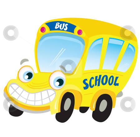 vector isolated yellow school bus stock vector rh cutcaster com