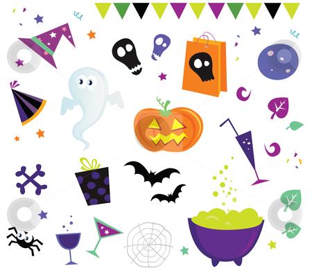 Vector - Halloween vector Icons set III stock vector clipart, Halloween vector icons by BEEANDGLOW
