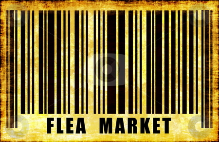 Flea Market Sign stock photo, Flea Market Sign on Abstract Art Background by Kheng Ho Toh